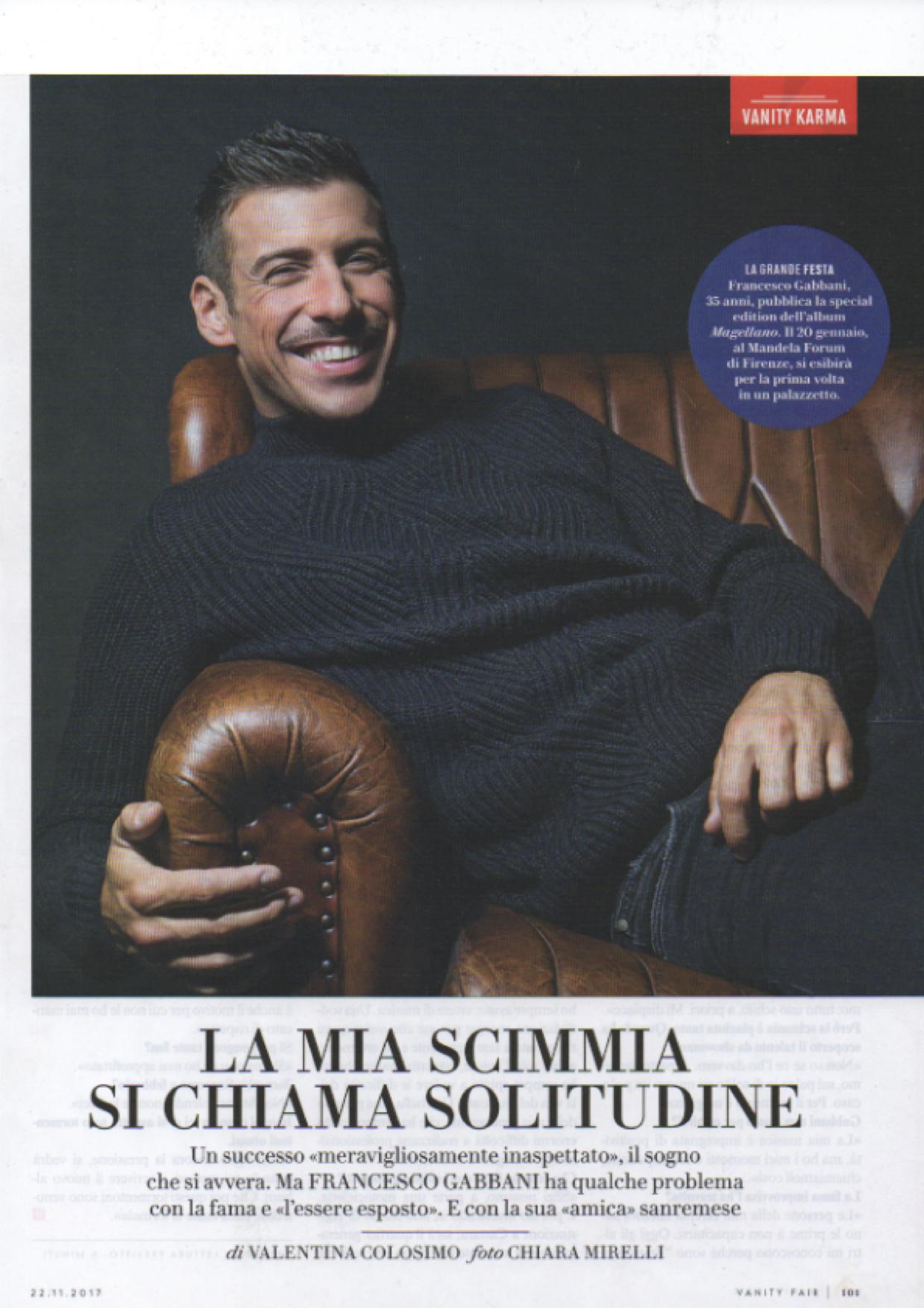 Francesco Gabbani Vanity Fair